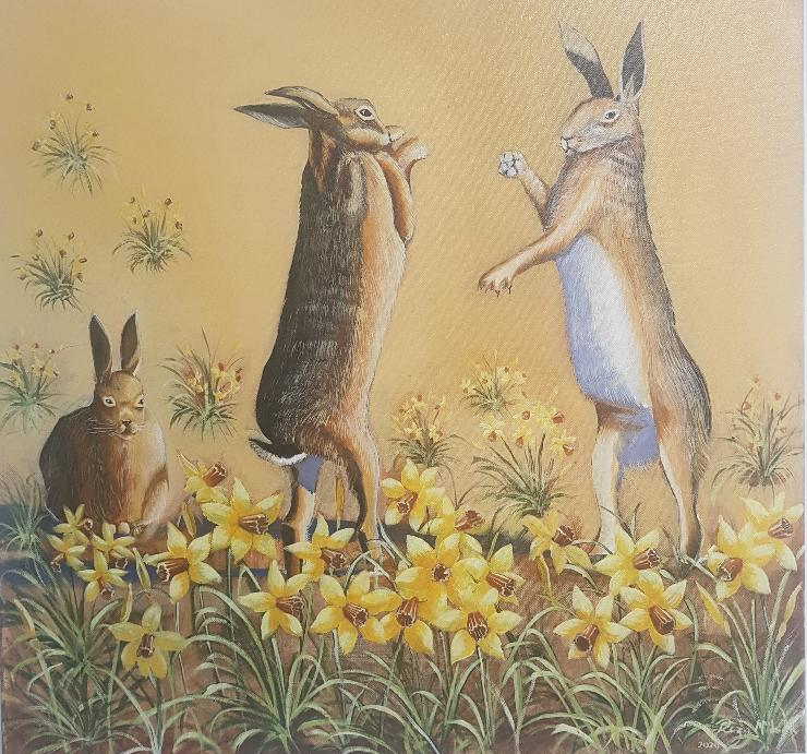 Boxing Hares Image