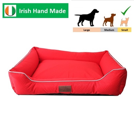 Beddies Waterproof Lounger Red/Grey S/M   76x60x20cm Image