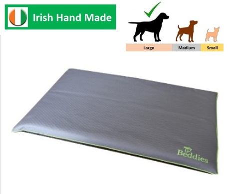 Waterproof Crate Mat Char/Lime L/XL Image