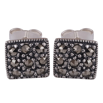 Sterling Silver Marcasite Studs  Image