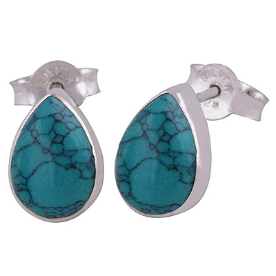 Sterling Silver Turquoise Stud Earrings  Image