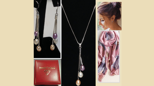 Free  scarf and free delivery Jewellery set limited offer. Image
