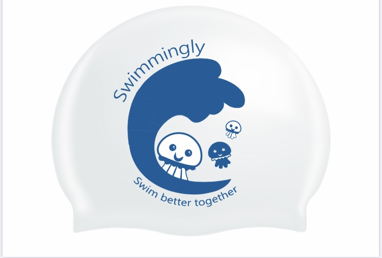 Silicone print swim hat Image