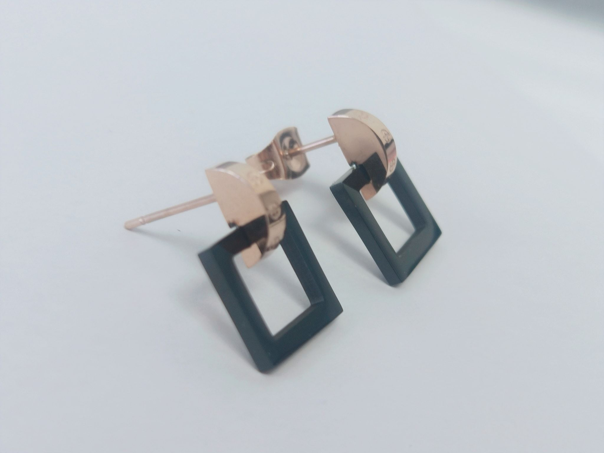 Square  Stainless Steel Nickel Free stud Earring Image