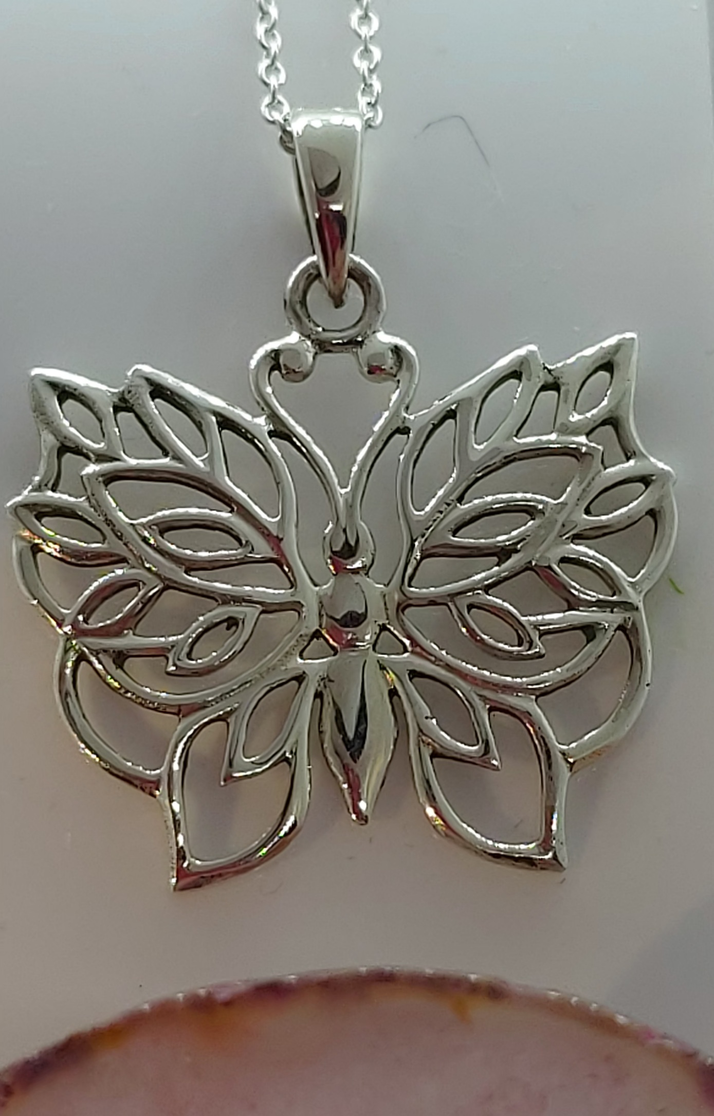 """Sterling Silver Butterfly pendant  18"""" chain  Image"""