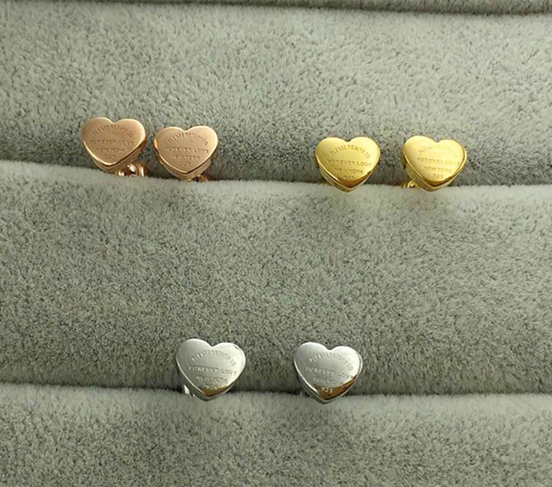 Stainless Steel Heart Stud Earrings Image