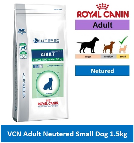 14517 VCN NEUTERED ADULT SMALL DOG 1.5KG
