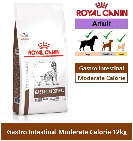 28342RC VHN CANINE GASTROINTESTINAL MODERATE CALORIE 15KG Image