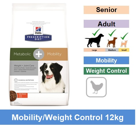10039 Prescription Diet™ Metabolic+Mobility Canine Chicken 12kg Image