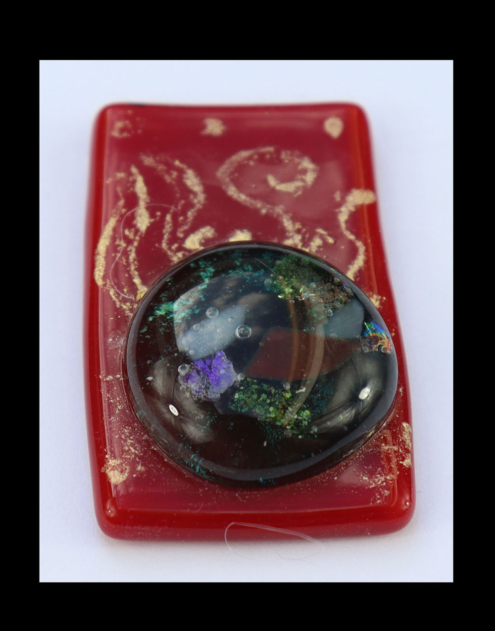 Fused Glass Brooch Image
