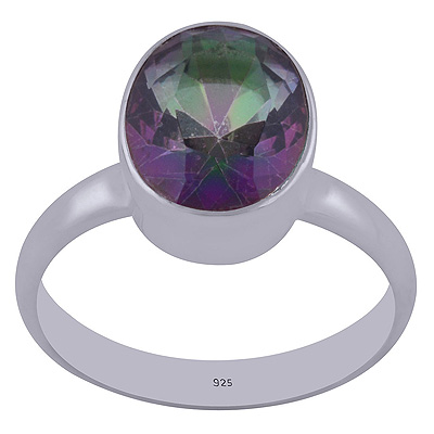 Sterling Silver Mystic Topaz Ring Size 8 Image