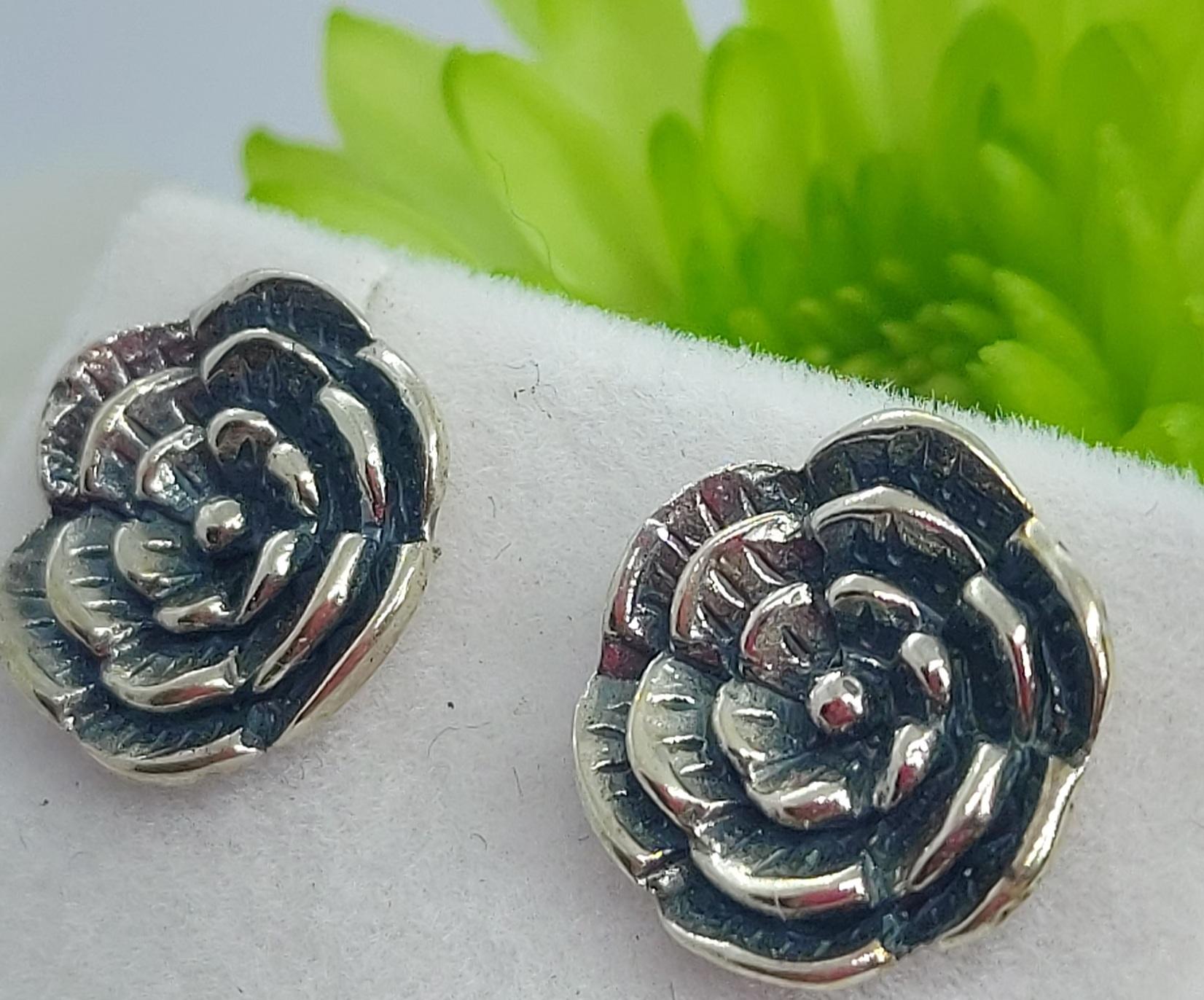 Sterling Silver Flower Studs  Image