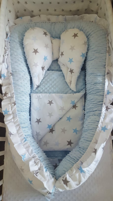 Sweet Angel Nest- blue big stars Image