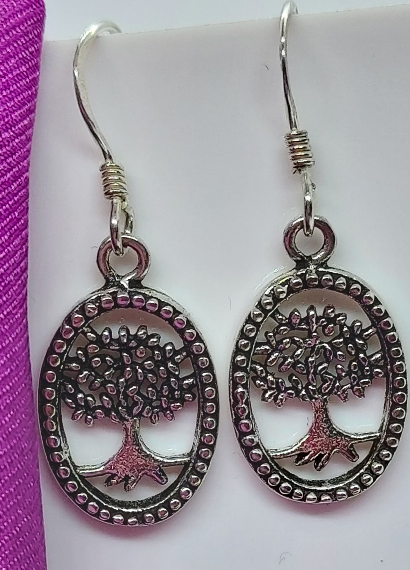 Sterling Silver Tree of Life  Earrings  Image