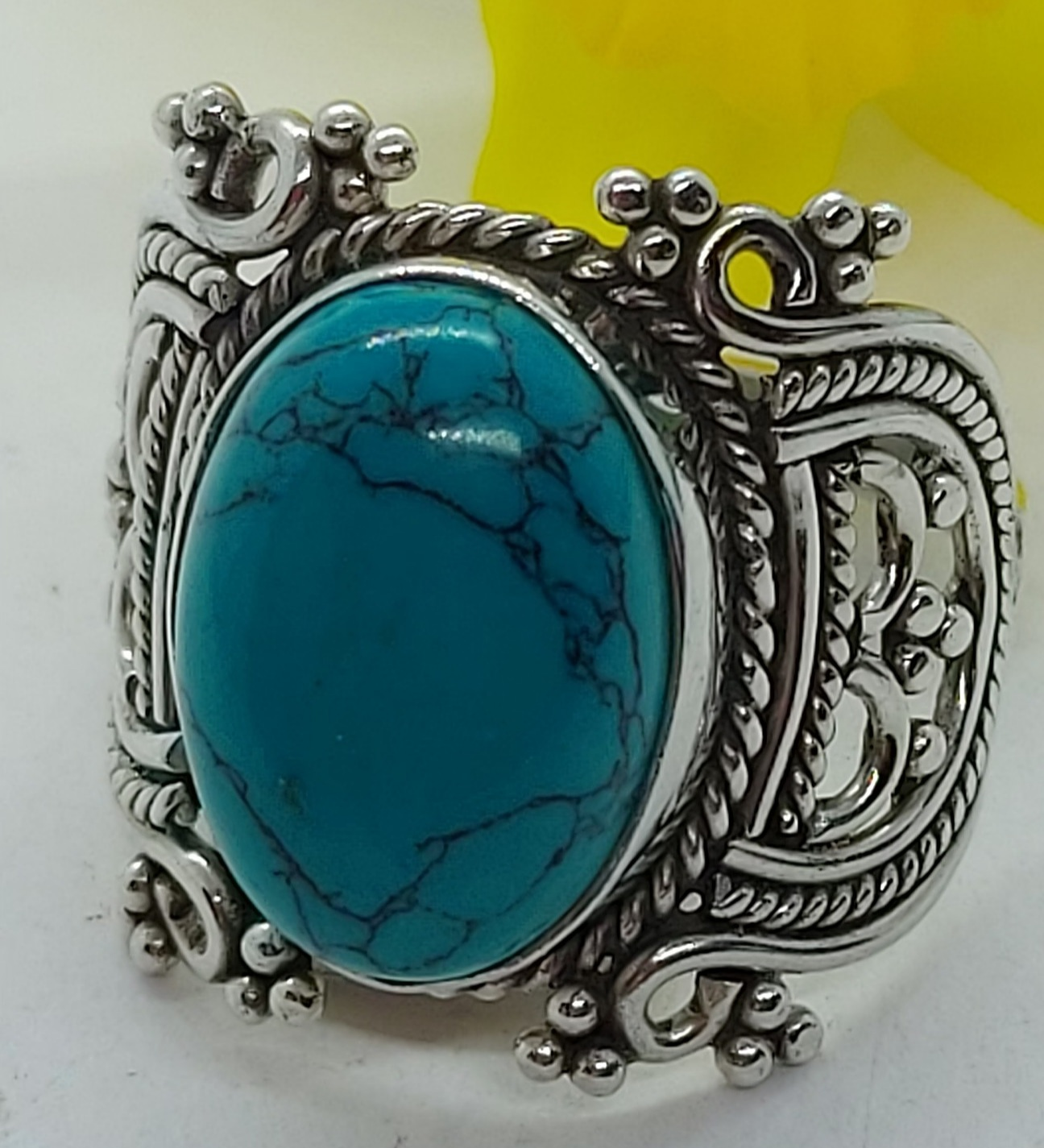 Sterling Silver Turquoise Ring size 7.5 Image