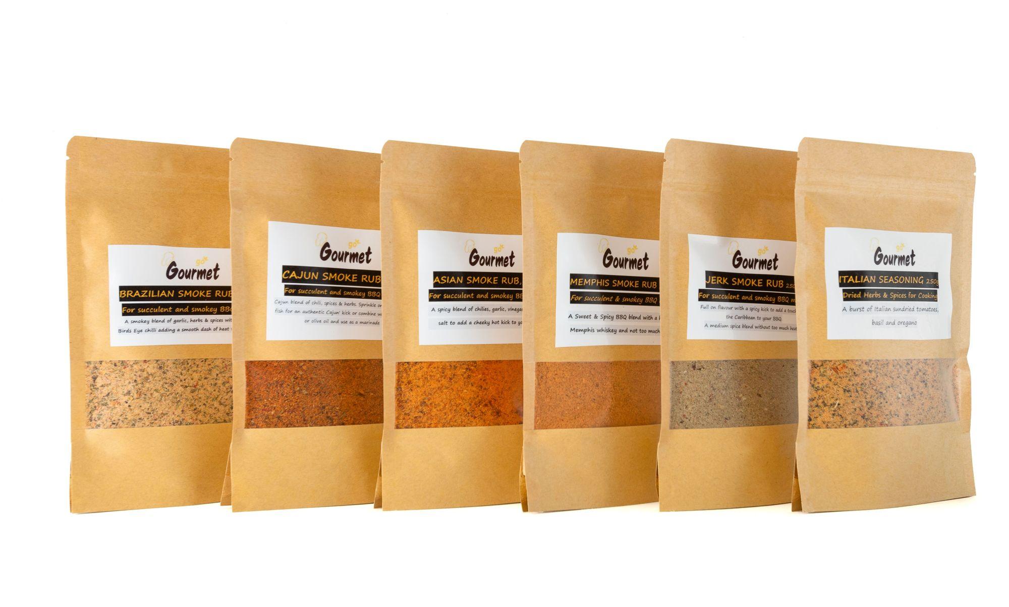 Go Gourmet BBQ Rubs Range - 6 Intense flavours Image