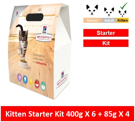 10854 Hill's™ Vet Essentials™ Kitten Starter Kit 6 x 400g