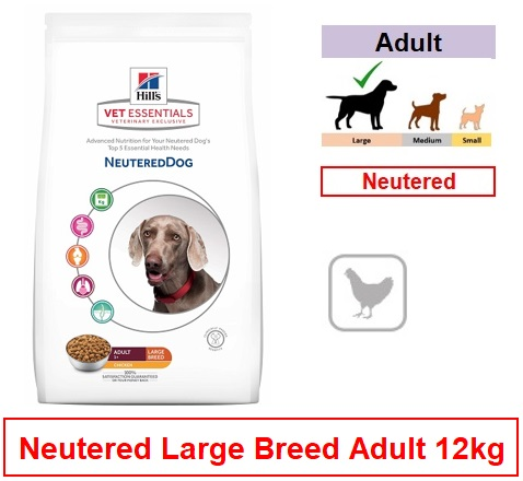 3445 Hill's™ Vet Essentials™ Neutered Dog Large Breed with Chicken 12kg Image