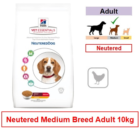 605056 Hill's™ Vet Essentials™ Neutered Dog Medium with Chicken 10kg Image