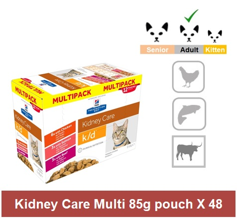 2835 Prescription Diet™ k/d™ Early Stage Feline Multi Pack 4 x 12 x 85g Image