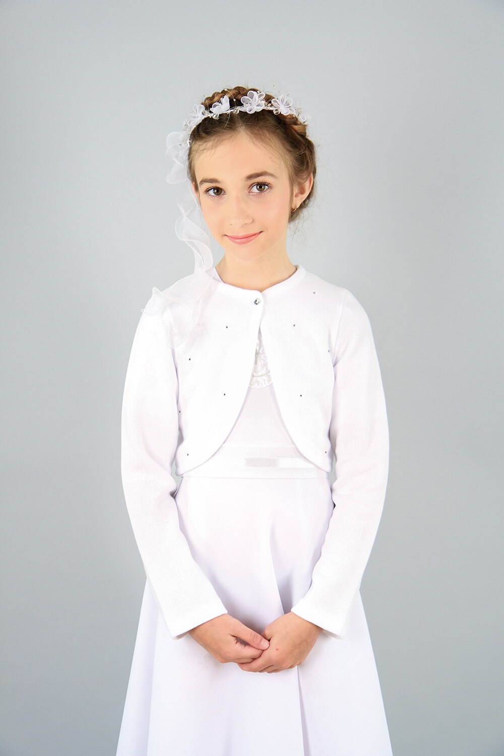Snow White Soft Long Sleeve Cardigan Image