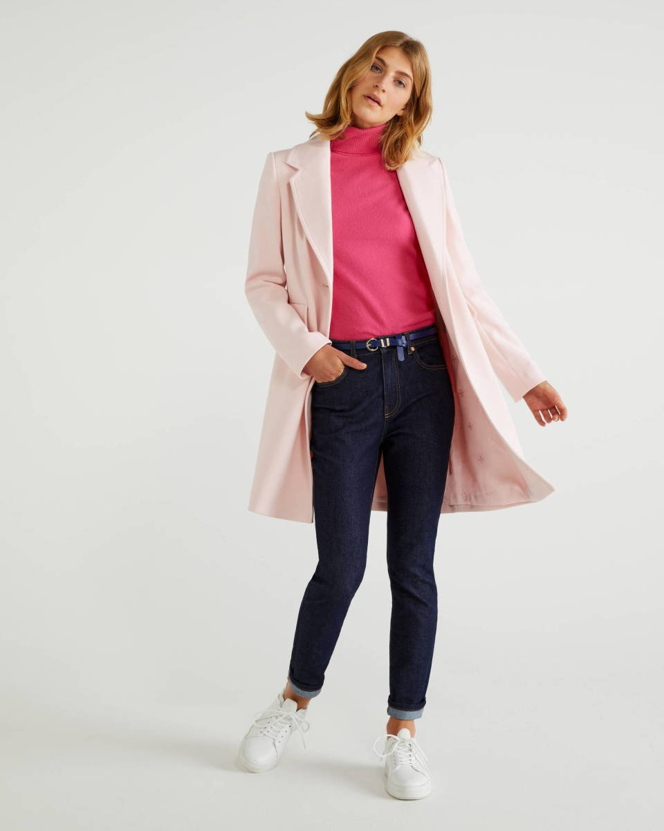 Pink Lined Coat Image