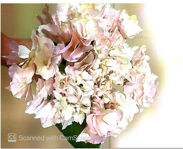 Hydrangea Pink Flower Artificial  Image