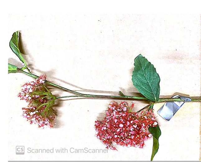 Pink Buds Partially Open Artificial Flower Image
