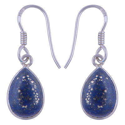 Sterling Silver Lapis Earrings  Image