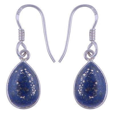 Sterling Silver Lapis Earrings  Image