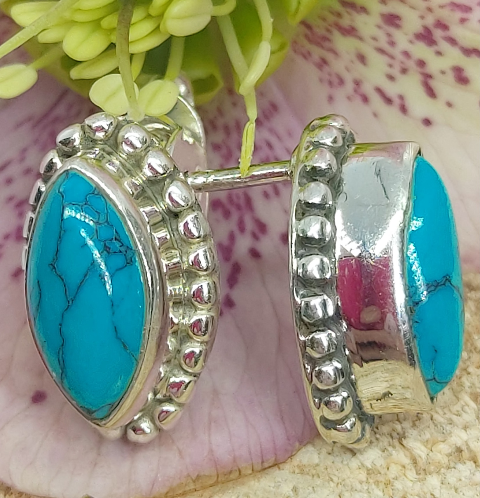 Sterling Silver Turquoise Studs  Image