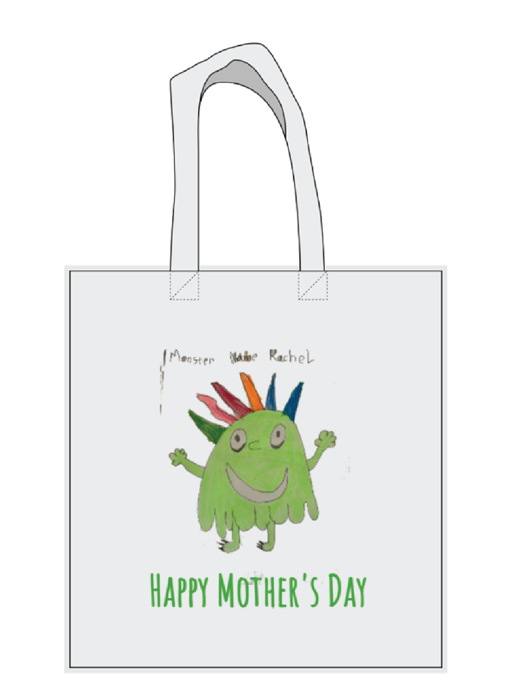 Children's Artwork Printed  Tote Bag Image