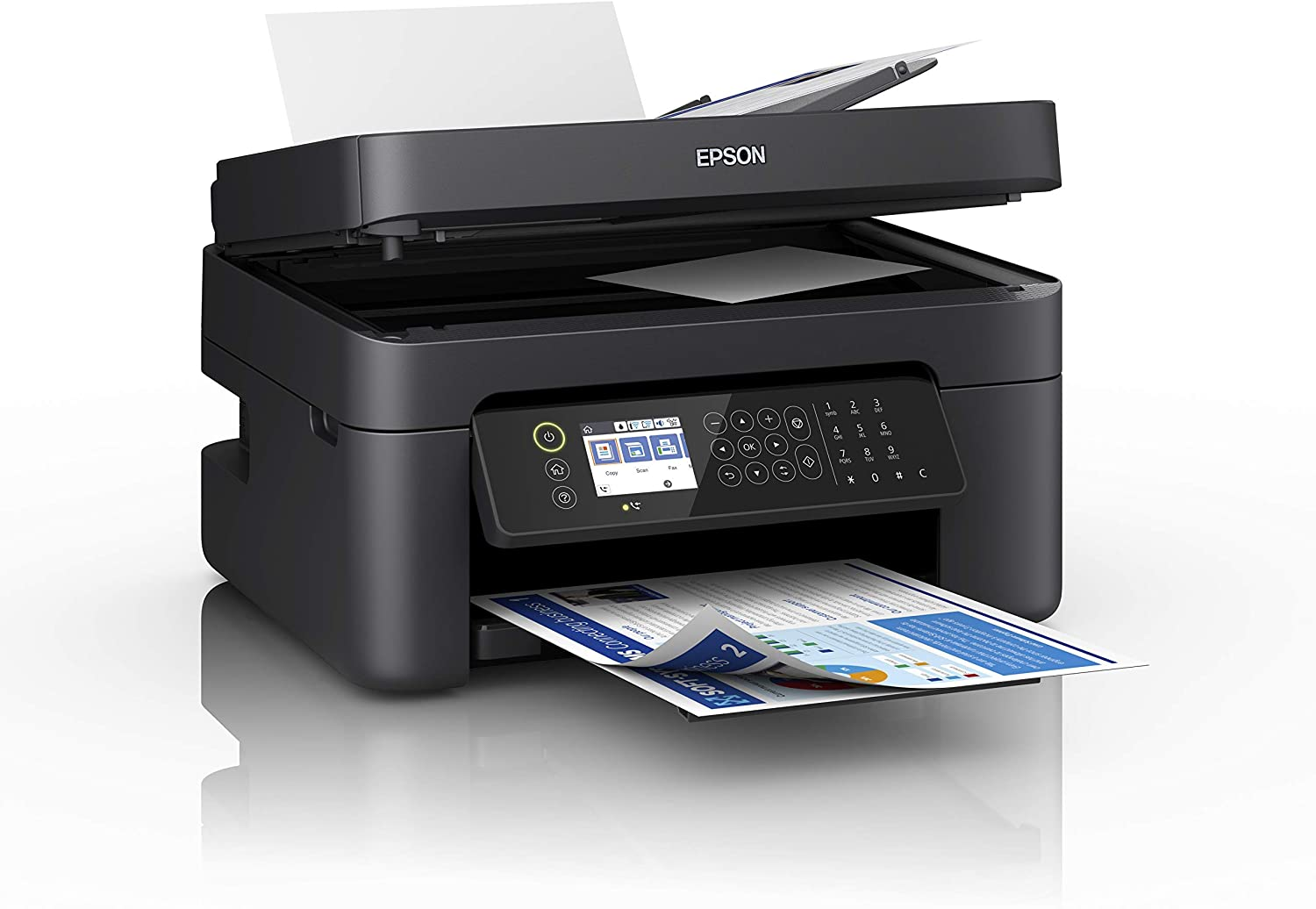Epson WorkForce WF-2850DWF Print/Scan/Copy/Fax Wi-Fi Printer with ADF, Black Image
