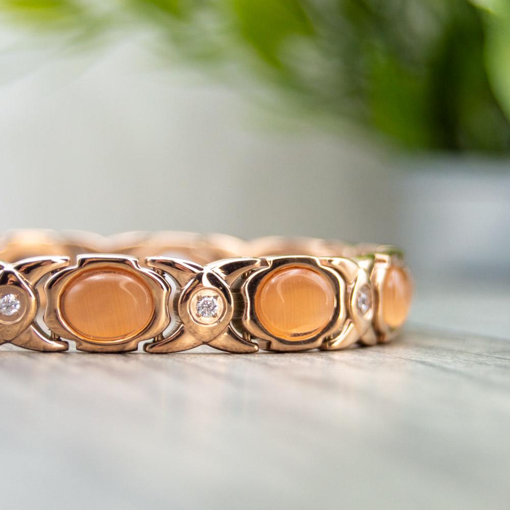 Willow Dusk - Women's Magnetic Bracelet - Rose Gold Colour Image