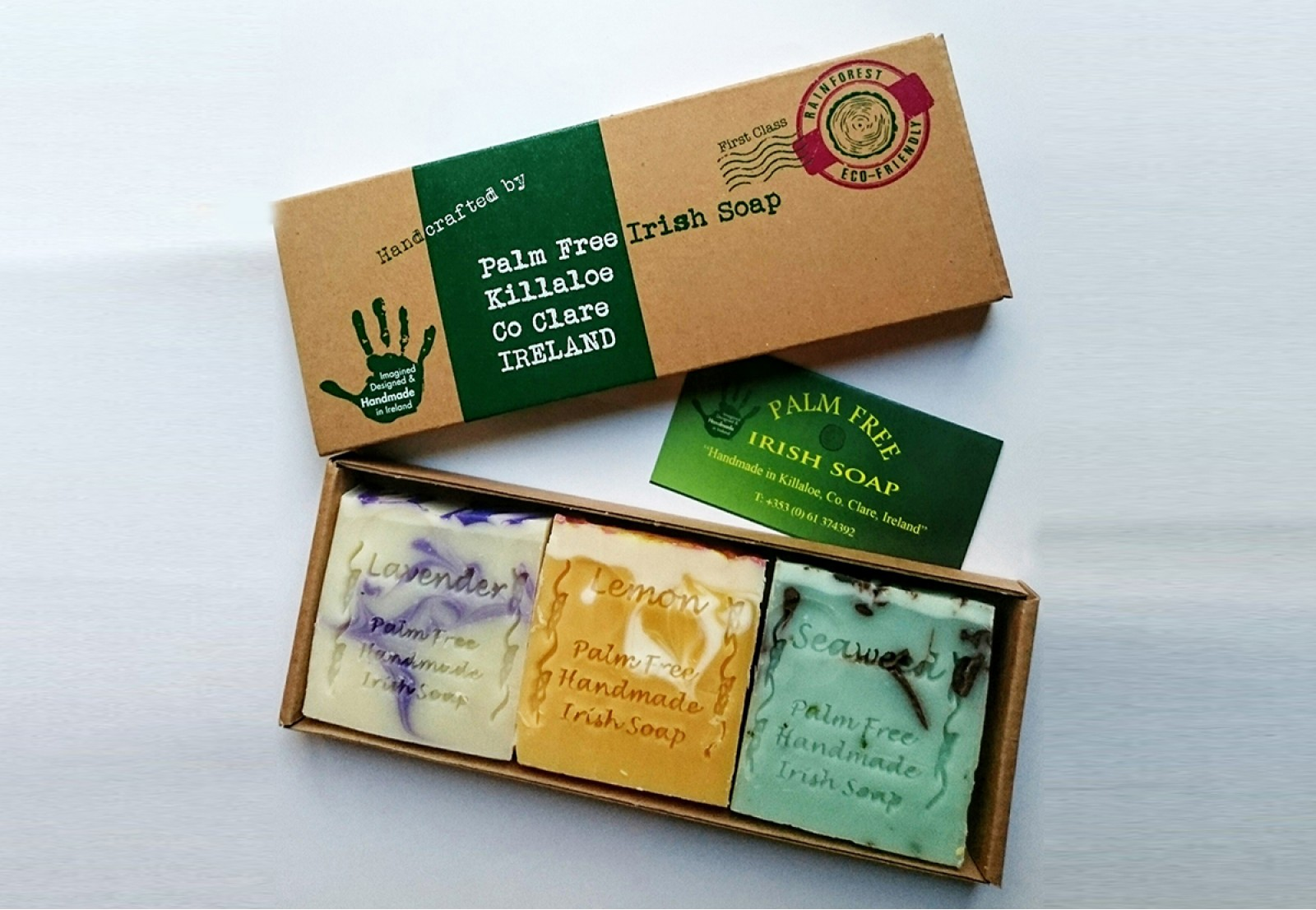 Gift Pack of 3 Mixed Palm Free Soap Image
