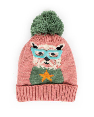 Childrens Westie Candy Woolen Warm Hat Image