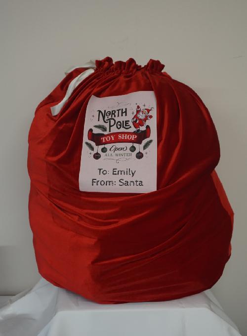 Personalised Velvet Christmas Santa Sack Image