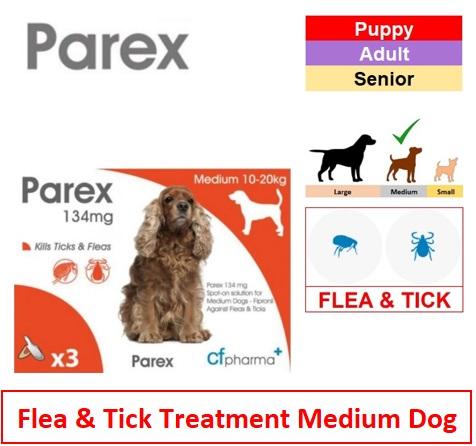 Parex Spot On Med Dog (Qty 3) Image