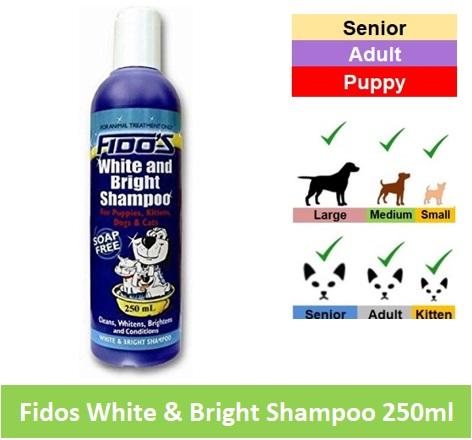 Fido White/Bright Shampoo 250ml Image