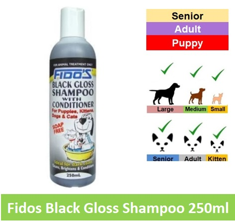 Fido Black Gloss Spo 250ml Image