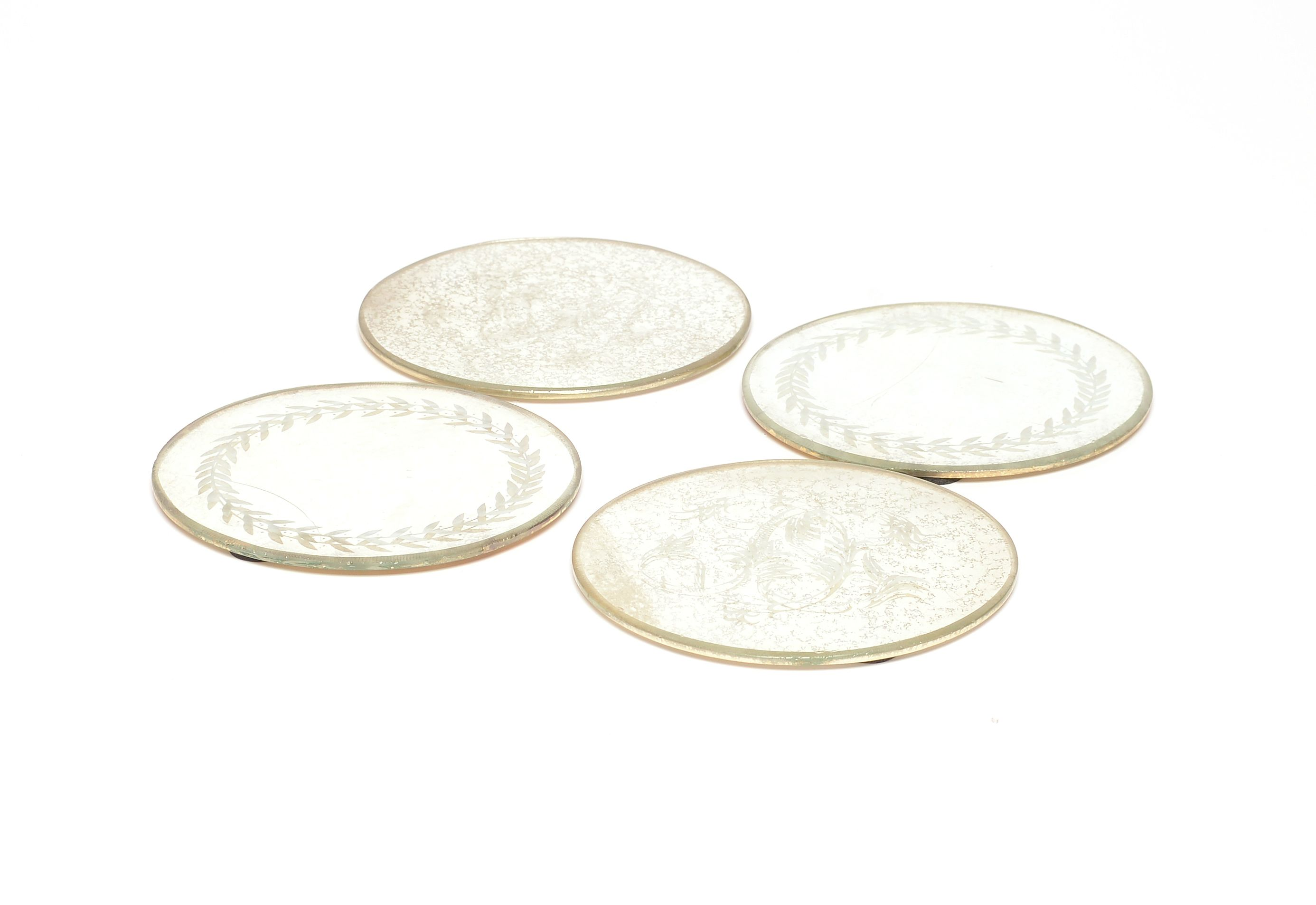 Round Coasters with Decoration Image