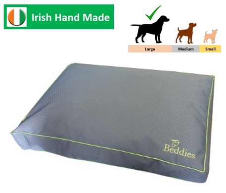 Beddies Waterproof Matress Char/Lime L/XL:  120x70 x10cm Image