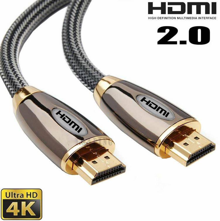 Premium HDMI Braided Cable V2.0 High Speed 4K Ultra HD – 1.5 Meter Image