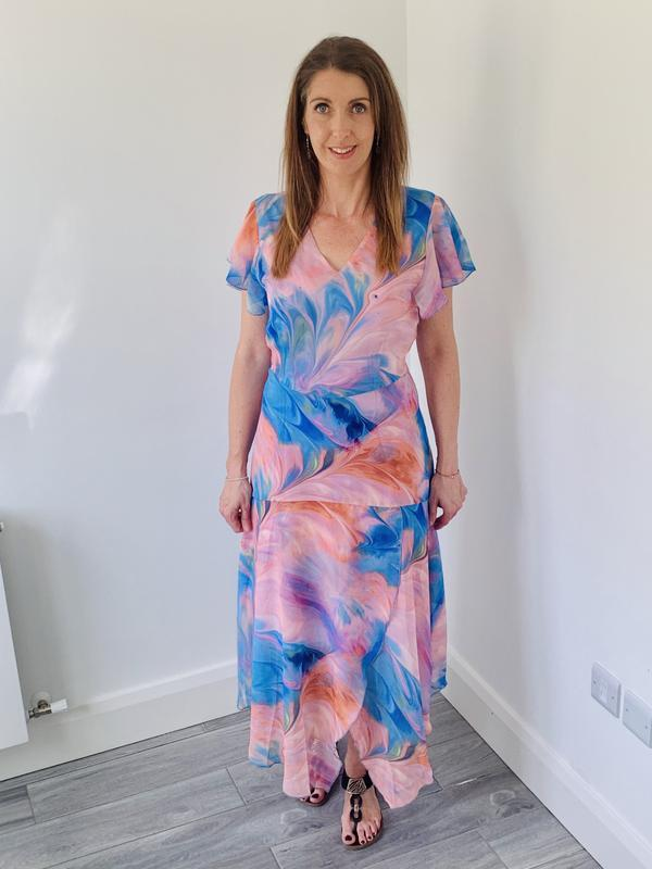 COSTER COPENHAGEN COLOURFUL DRESS IN RECYCLED POLYESTER Image