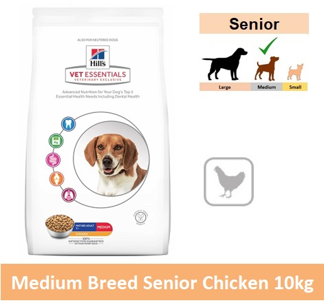 8665 Hill's™ Vet Essentials™ Canine Mature Adult 7+ Medium with Chicken 10kg Image