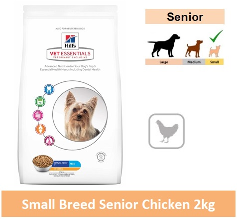 9001 Hill's™ Vet Essentials™ Canine Mature Adult 7+ Mini with Chicken 1.5kg Image