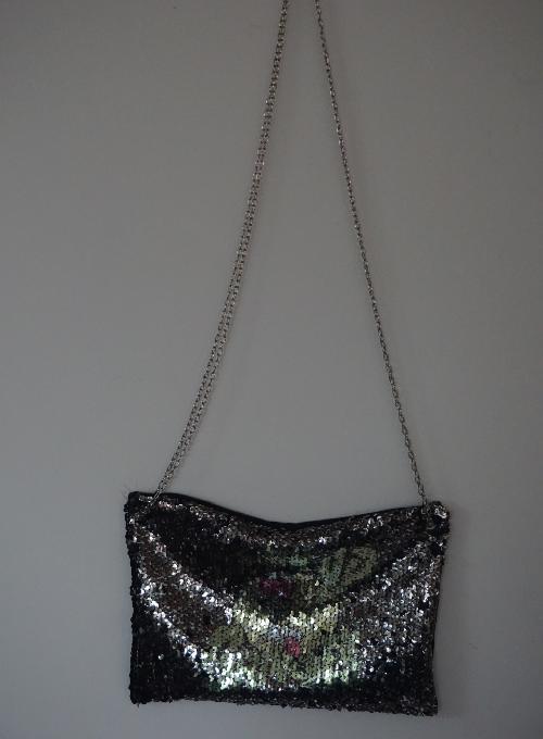 Reversible Sequin Clutch Bag Image