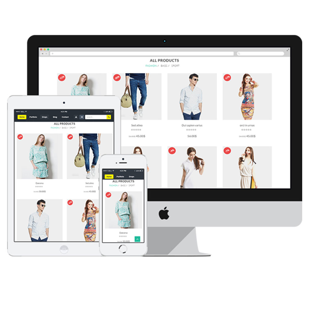 E-Commerce Website Design Image