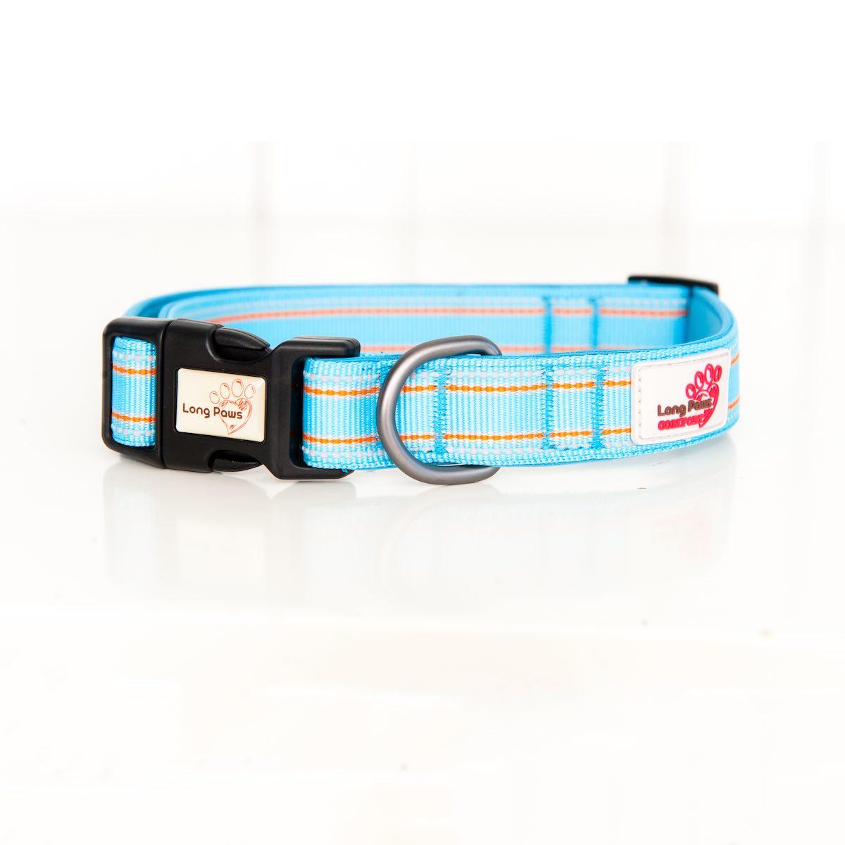 Long Paws Comfort Collar Light Blue Small  Image