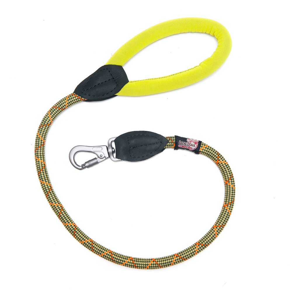 Long Paws Comfort Rope Leash Green 75cm / 30in  Image